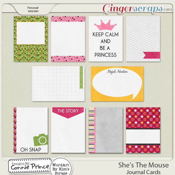 She's The Mouse - Journal Cards