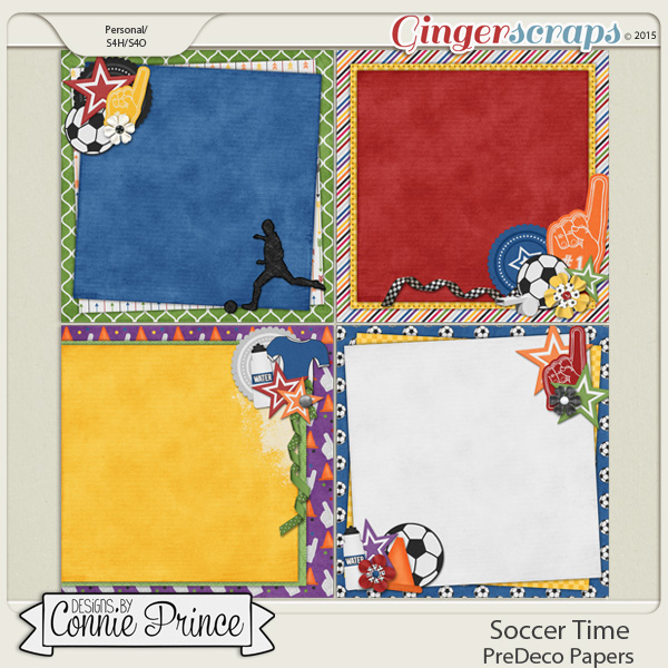 Soccer Time - PreDeco Papers
