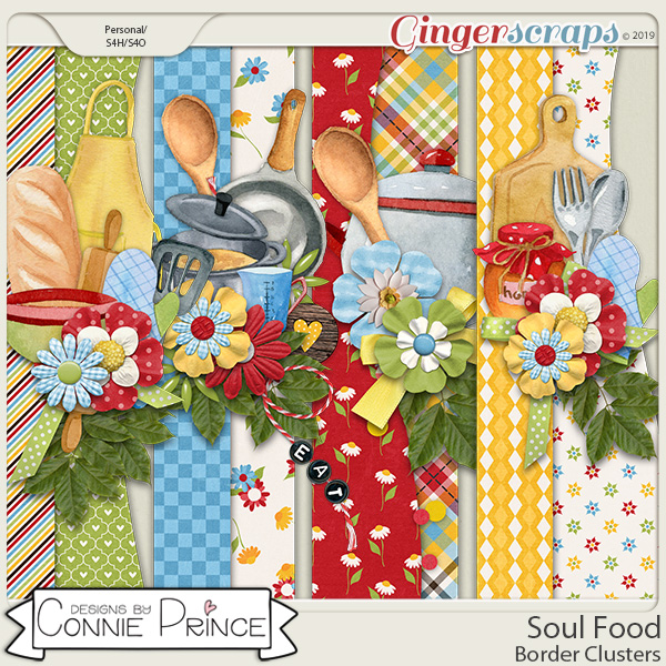Soul Food - Border Clusters by Connie Prince