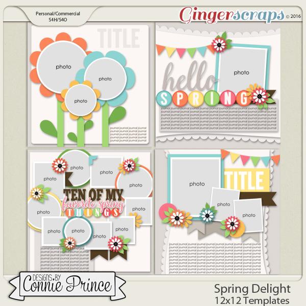 Spring Delight - 12x12 Templates (CU Ok)