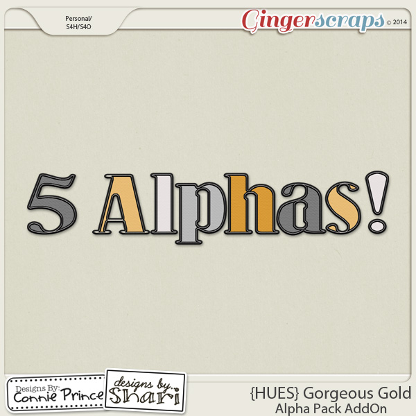{HUES} Gorgeous Gold - Alpha Pack AddOn