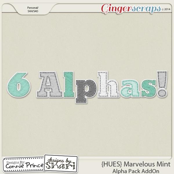 {HUES} Marvelous Mint - Alpha Pack AddOn