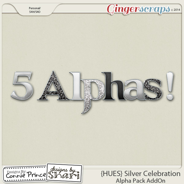{HUES} Silver Celebration - Alpha Pack AddOn