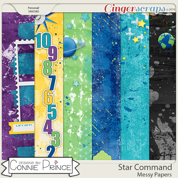 Star Command - Messy Papers by Connie Prince