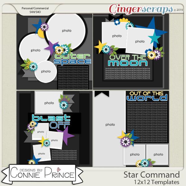 Star Command - 12x12 Templates (CU Ok) by Connie Prince