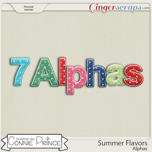 Summer Flavors - Alpha Pack AddOn by Connie Prince