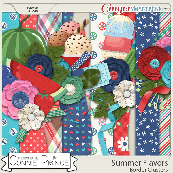Summer Flavors - Border Clusters by Connie Prince