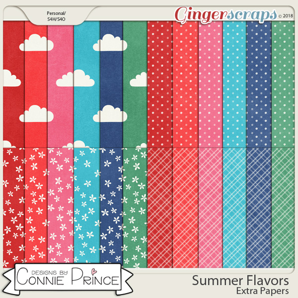 Summer Flavors - Extra Papers by Connie Prince