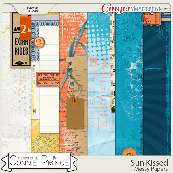 Sun Kissed - Messy Papers by Connie Prince