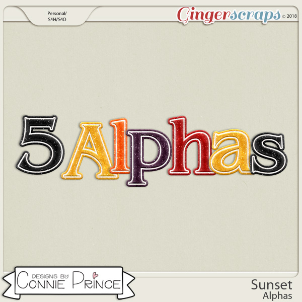 Sunset - Alpha Pack AddOn by Connie Prince
