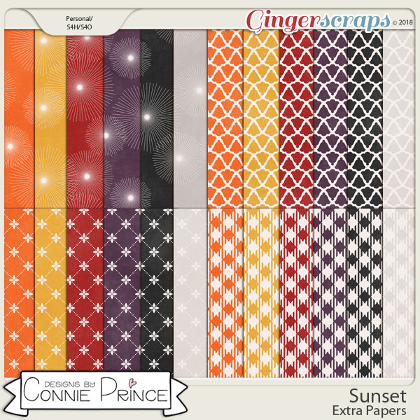 Sunset - Extra Papers by Connie Prince