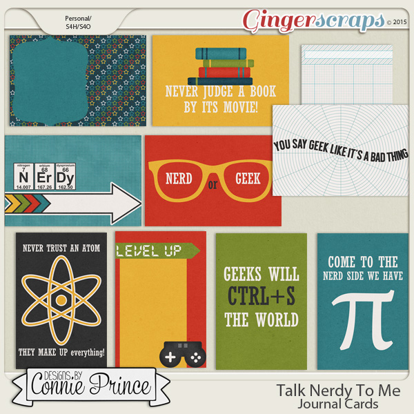 Talk Nerdy To Me - Journal Cards