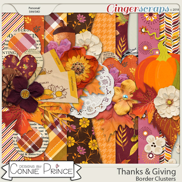 Thanks & Giving - Border Clusters by Connie Prince