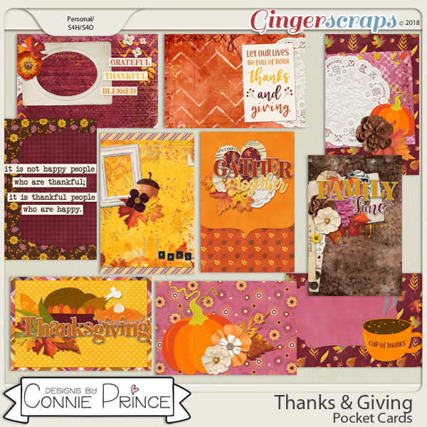 Thanks & Giving - Pocket Cards by Connie Prince