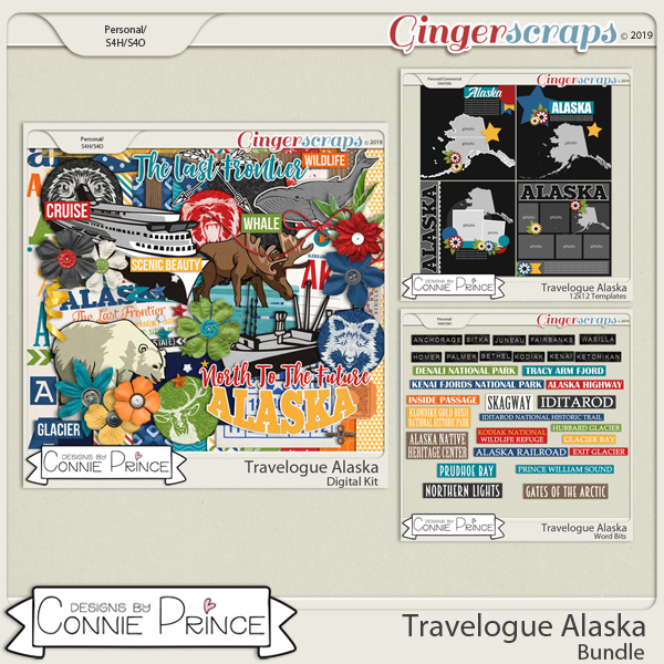 Travelogue Alaska - Bundle Pack by Connie Prince