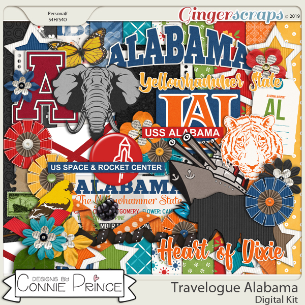 Travelogue Alabama - Kit by Connie Prince