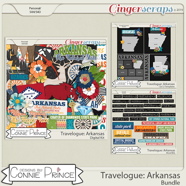 Travelogue Arkansas - Bundle Pack by Connie Prince