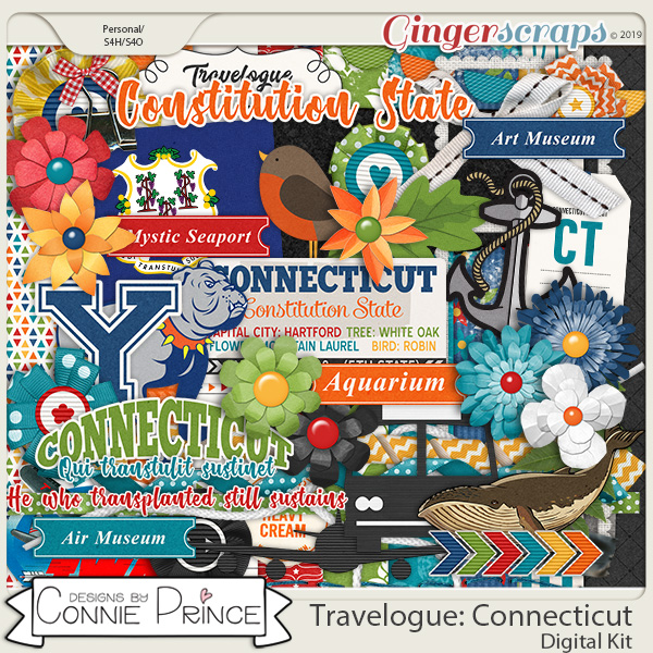 Travelogue Connecticut - Kit by Connie Prince