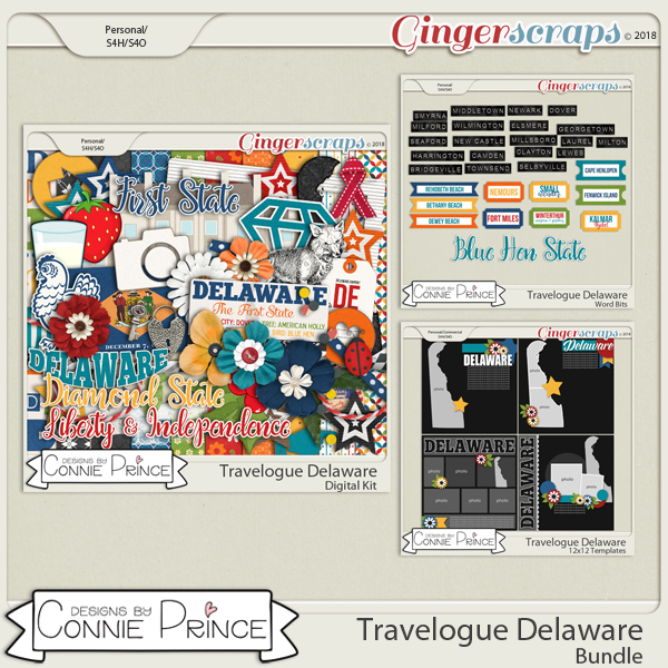 Travelogue Delaware - Bundle Pack by Connie Prince