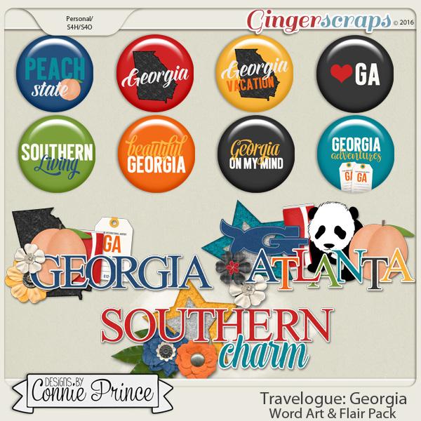Travelogue Georgia - Word Art & Flair Pack
