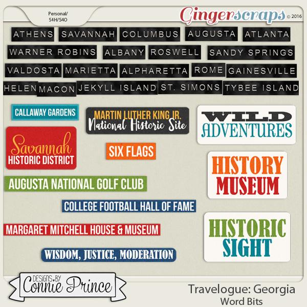 Travelogue Georgia - Word Bits
