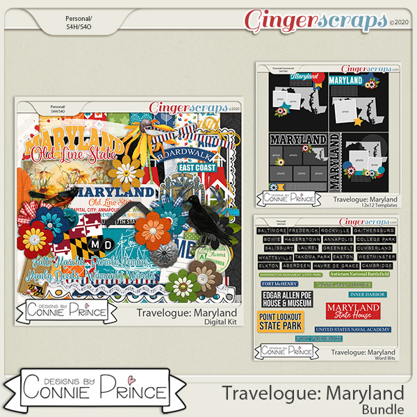 Travelogue Maryland - Bundle Pack by Connie Prince