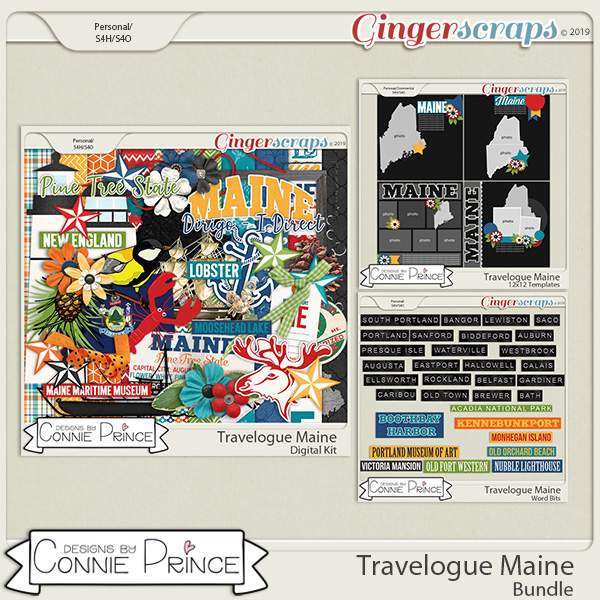 Travelogue Maine - Bundle Pack by Connie Prince