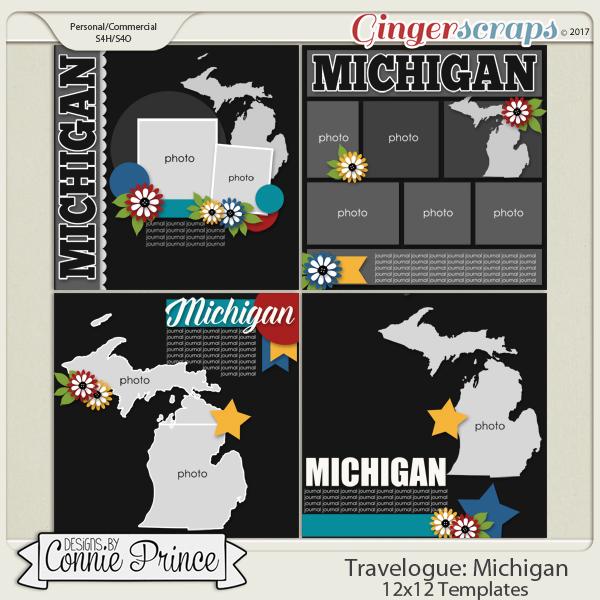 Travelogue Michigan - 12x12 Temps (CU Ok)