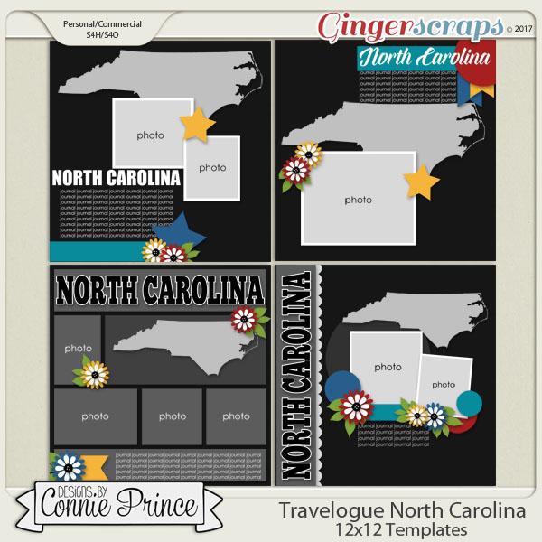 Travelogue North Carolina - 12x12 Temps (CU Ok)