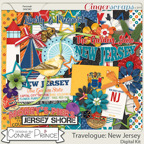 Travelogue New Jersey - Kit by Connie Prince