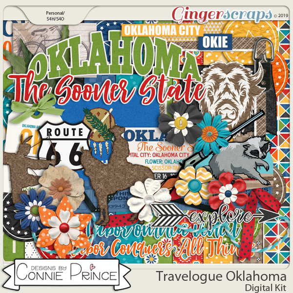 Travelogue Oklahoma - Kit by Connie Prince