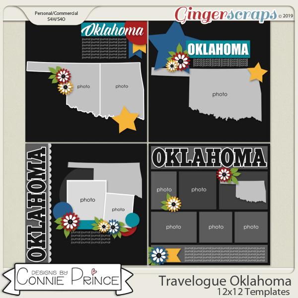 Travelogue Oklahoma - 12x12 Temps (CU Ok) by Connie Prince