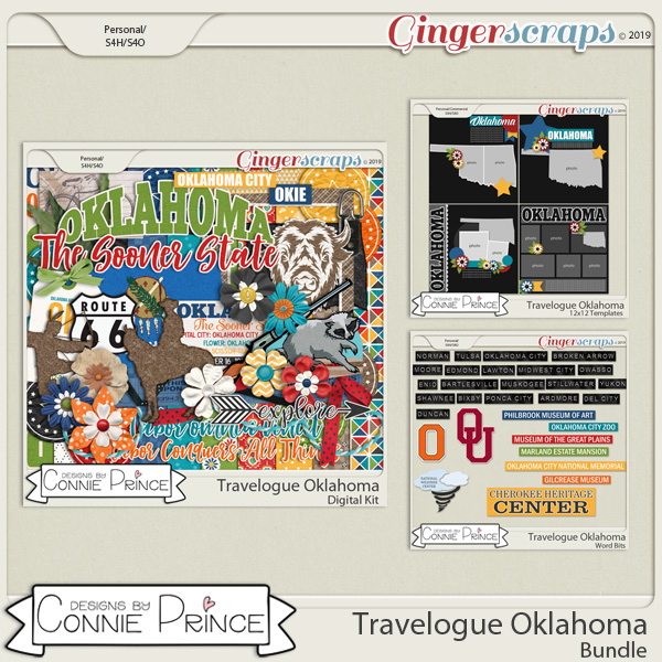 Travelogue Oklahoma - Bundle Pack by Connie Prince