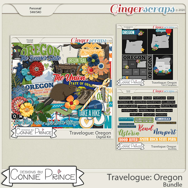 Travelogue Oregon - Bundle Pack by Connie Prince
