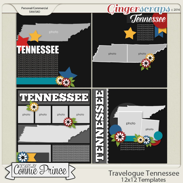 Travelogue Tennessee - 12x12 Temps (CU Ok)