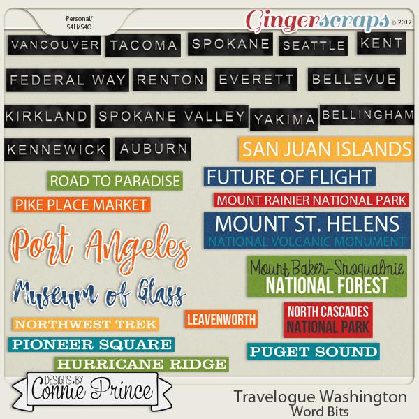 Travelogue Washington - Word Bits