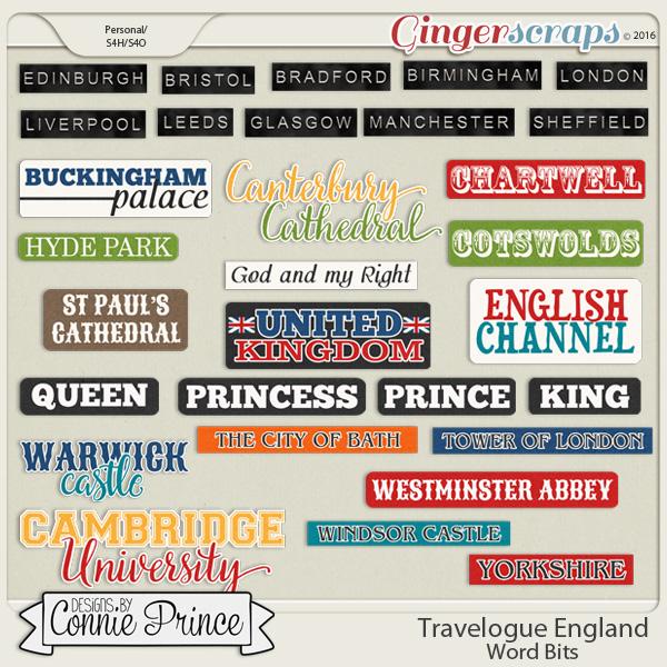 Travelogue England - Word Bits