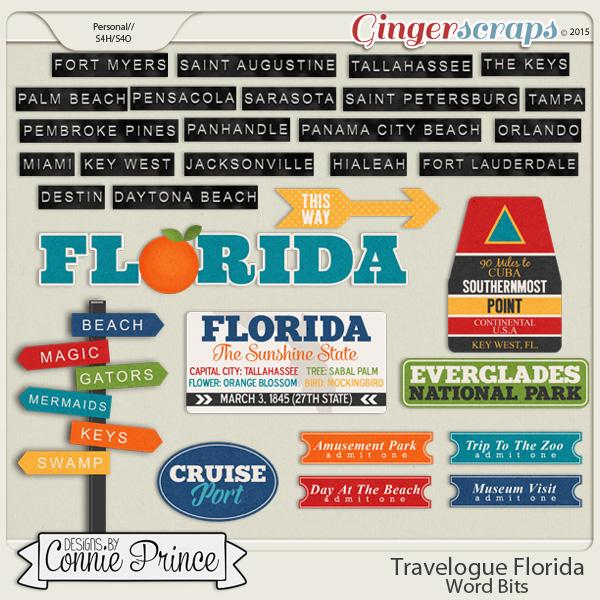 Travelogue Florida - Word Bits