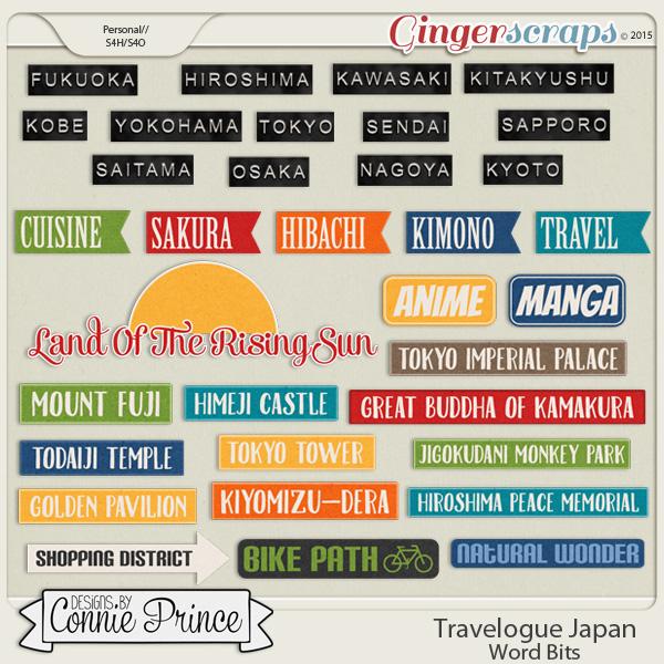 Travelogue Japan - Word Bits