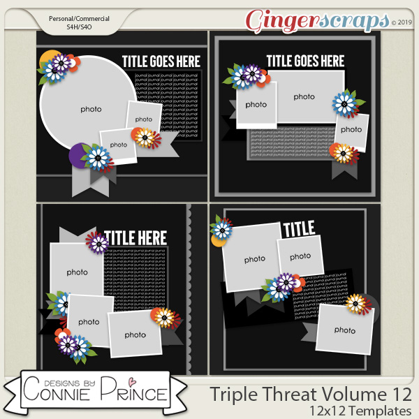 Triple Threat Volume 12 - 12x12 Temps (CU Ok) by Connie Prince
