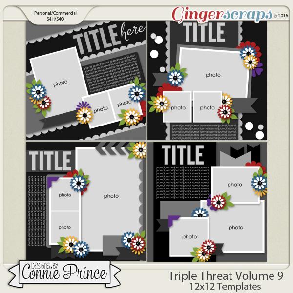 Triple Threat Volume 9 - 12x12 Temps (CU Ok)