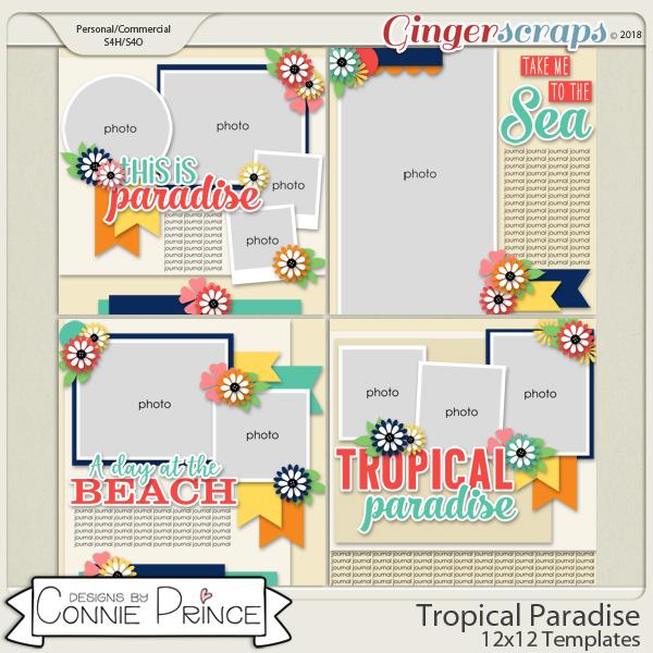Tropical Paradise - 12x12 Temps (CU Ok) by Connie Prince