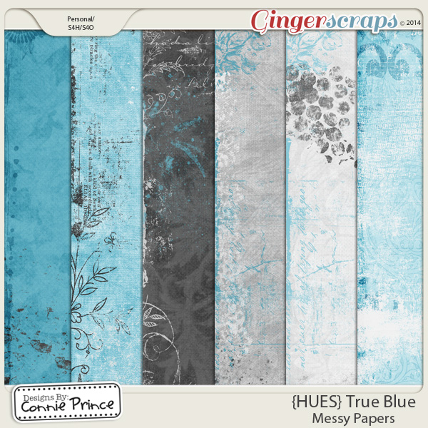 {HUES} True Blue - Messy Paper Pack
