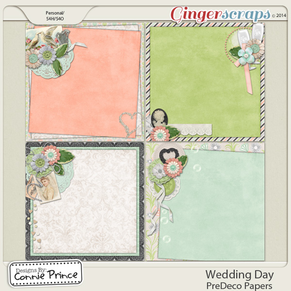 Wedding Day - PreDeco Papers