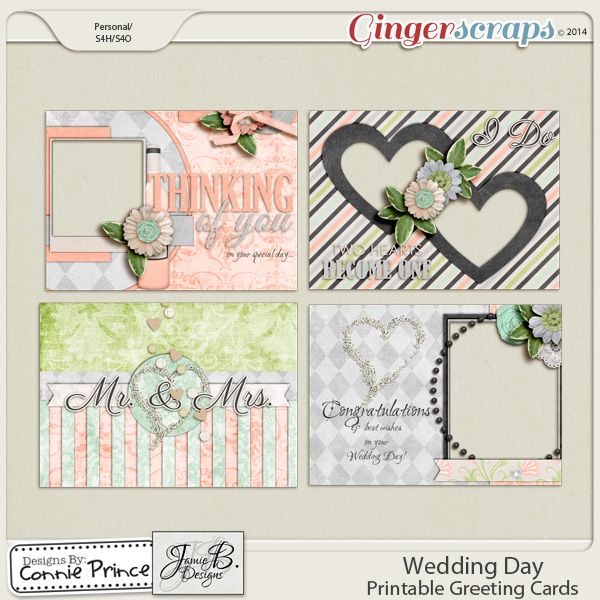Wedding Day - Printable Greeting Cards