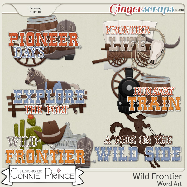 Wild Frontier - Word Art Pack by Connie Prince