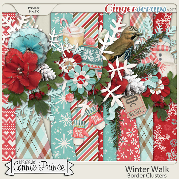 Winter Walk - Border Clusters by Connie Prince