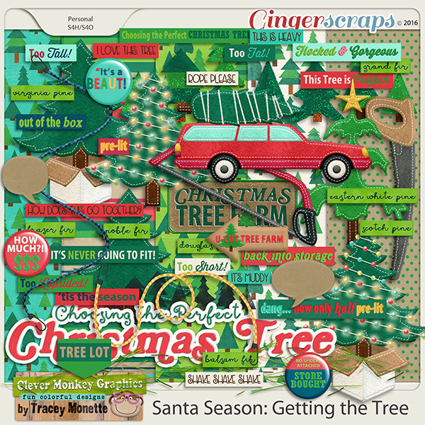 Santa Season: Getting the Tree by Clever Monkey Graphics