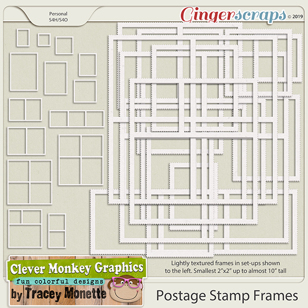 Postage Stamp Frames by Clever Monkey Graphics