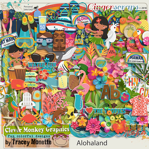 Alohaland Kit by Clever Monkey Graphics
